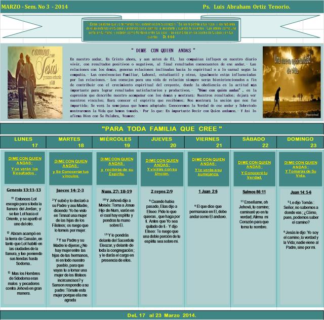 DEVOCIONAL SEMANAL 2014- Marzo 3.1